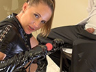 gimping him with a ball gag desirae at home