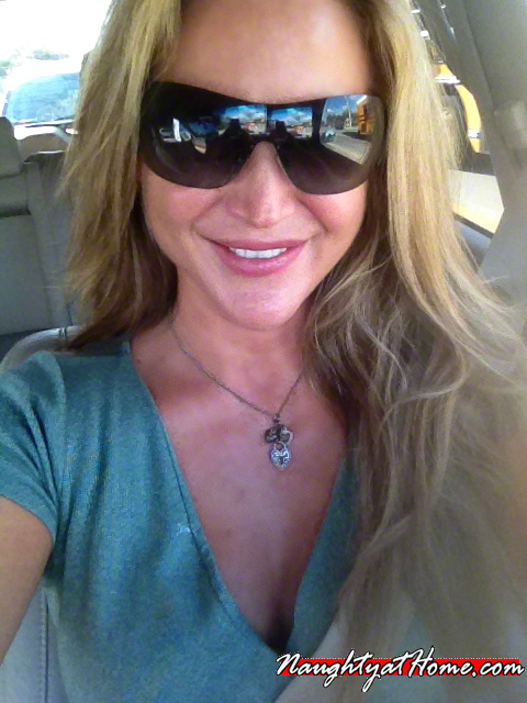 in car sexting desirae spencer naughty at home naughtyathome.com dirty talking milf